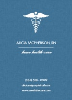 Blue Medical Business Card