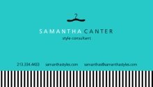 Turquoise Black and White Fashion Business Card
