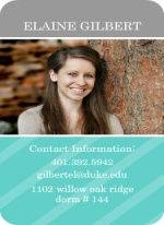 Gray and Turquoise Contact Card