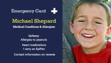 Blue Student Medical Card