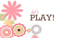 Pink and White Floral Mommy Play Date Card