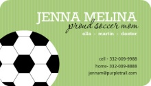 Green Soccer Mommy Card