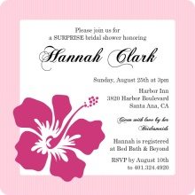 Pink Hibiscus Bridal Shower Invite