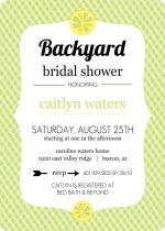 Yellow Citrus Fruit Bridal Shower Invite