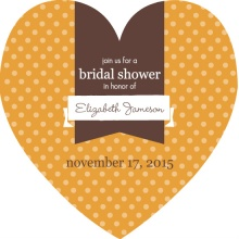 Orange and Brown Polka Dot Bridal Shower Invite
