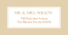 Birch Tree and Fall Leaves  Address Label