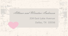 Rustic Heart Barn Door  Address Label