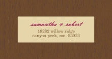 Brown and Merlot Country Tree  Address Label
