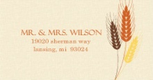 Rustic Fall Wheat And Leaf Bouquet  Address Label