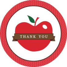 Red Apple Teacher Thank You Card