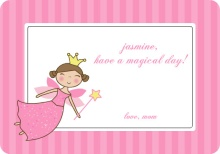 Pink Princess Fairy Lunchbox Card