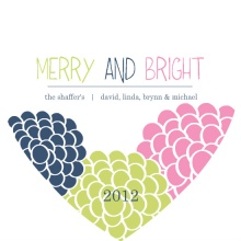 Whimsical Bright Flowers Holiday Card
