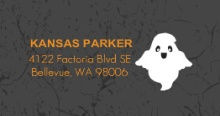 FaBOOlous Night Halloween  Party Address Label