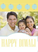 Pastel Lights Diwali Greeting Card