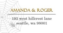 White Spiderweb Halloween Address Label