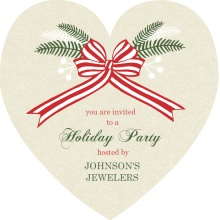 Rustic Business Holiday Party Invite