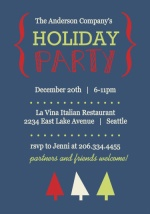 Xmas Trees Business Holiday Party Invite