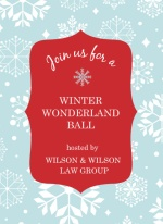 Wonderland Ball Business Holiday Party Invite