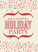 Red Confetti Business Holiday Party Invite