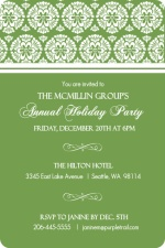 Beautiful Holiday Business Party Invitation