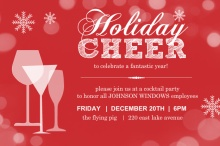 Red Holiday Cocktail Party Invitation
