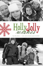 Holly Jolly Red and Green Holiday Photo Card