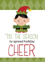 Green Elf Cheer  Holiday Photo Cards