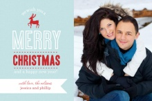 Red Reindeer Christmas Photo Card