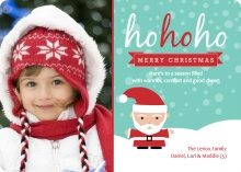 Snowy Santa Xmas Photo Card