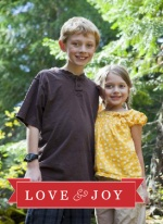 Red Love and Joy Holiday Photo Card
