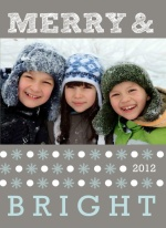 Gray Dots and Snow Holiday Photo Card