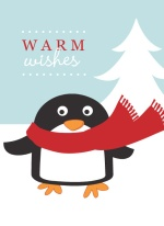 Winter Wonderland Penguin Christmas Card