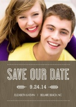 Wood Grain Rustic  Save The Date Magnet