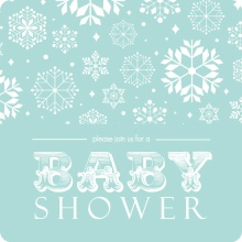 Baby Blue Snow Shower Invitation