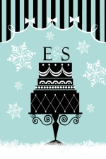 Holiday Cake Bridal Shower Invite