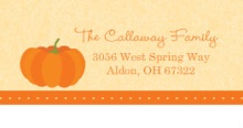 Our Little Pumpkin  Halloween Address Label