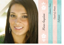 Pink Floral Quinceanera Booklet Invitation