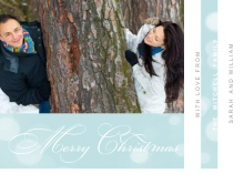 Beautiful Script Christmas Photo Card