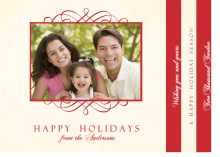 Red and Cream Holiday Photo Booklet Card
