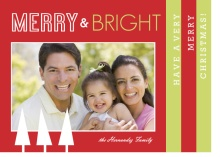 Red and Green Holiday Booklet Card