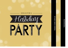 Gold Business Holiday Party Invitation