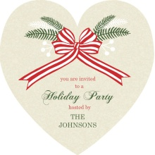 Heart and Holly Holiday Party Invitation