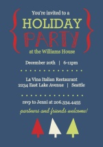 Bold Brackets FestiveTree Holiday Party Invite