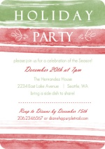 Winter Watercolor Holiday Party Invitations