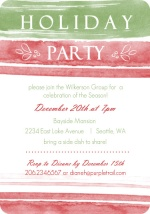 Watercolor Business Holiday Party Invites