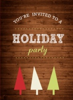 Woodgrain Business Holiday Party Invite
