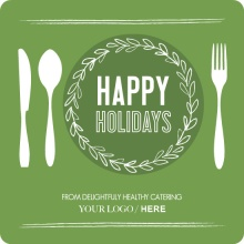 Green Catering Business Holiday Card