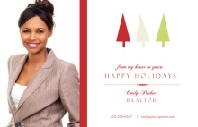 Xmas Trees Realtor Holiday Photo Card