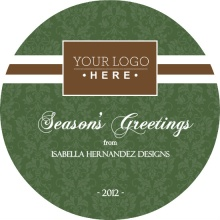 Formal Interior Decorator Business Holiday Card