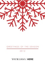 Festive Red Snowflake  Business Holiday Greeting Card